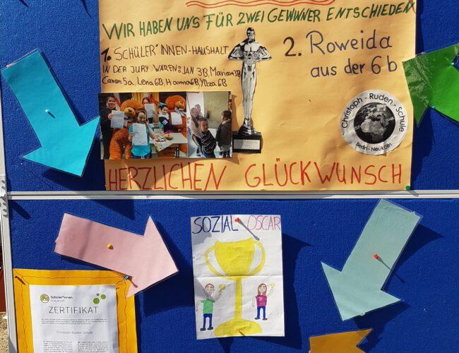 Verleihung des Sozial-Oscars 2021 der Christoph-Ruden Schule